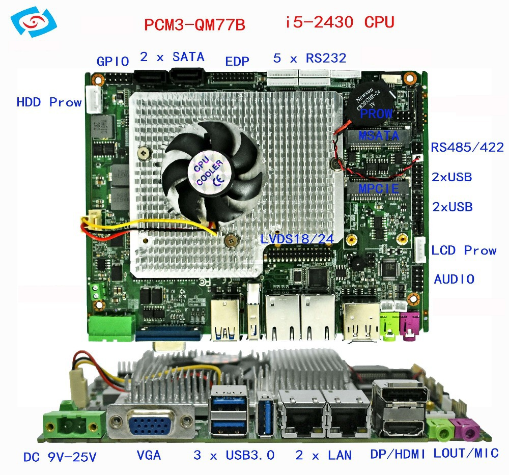 laptop motherboard with 2.4GHZ I5 processor motherboard for gaming image