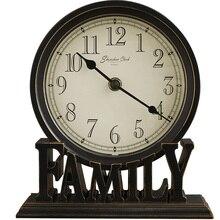 Reloj de mesa Retro de 5 pulgadas con Base de letras de amor para la familia, reloj de mesa Retro para la decoración del dormitorio y la sala de estar