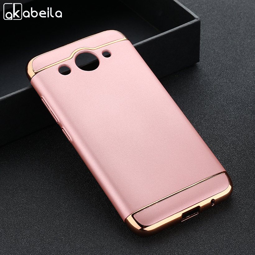 AKABEILA Phone Case For Huawei Y3 2017 CRO-L22 CRO-L02 CRO-L03 Huawei Y5 lite 2017 5.0 inch Covers Plating Hard Plastic Cases