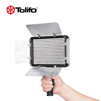 Tolifo Pt-504b 504 LED Bi Color Led Video Light Panel with LED Display 2.4G Wireless Remote Control and Detachable Barndoors
