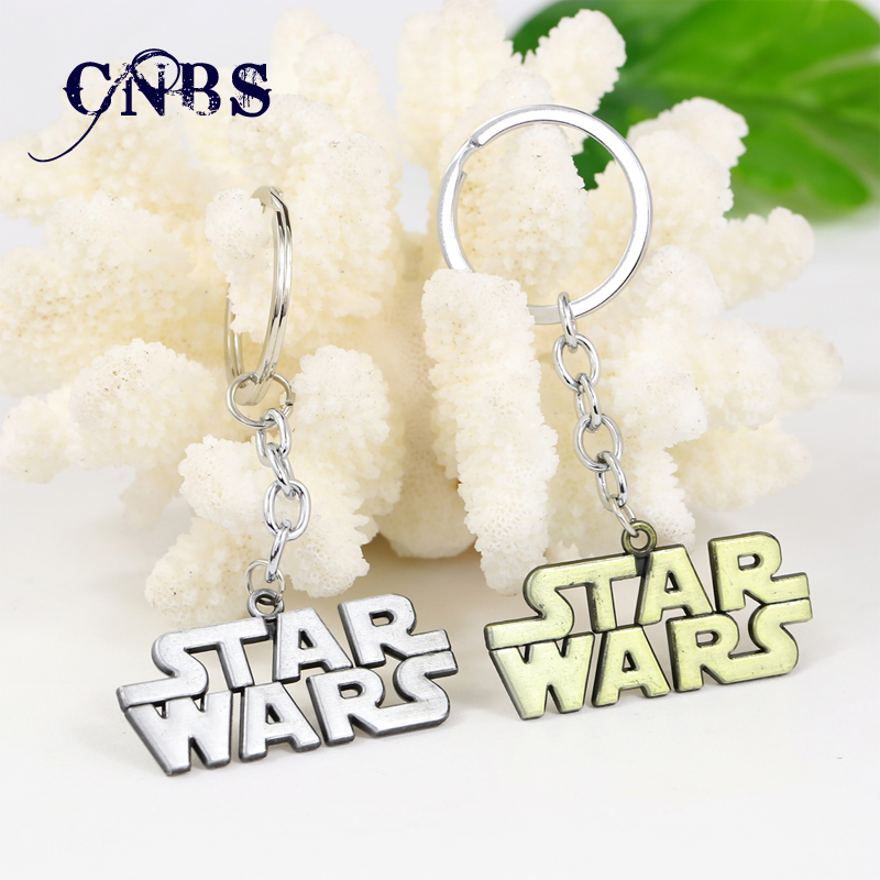 Star Wars Metal Keychain Letter Souvenirs Key Chain 2 Colors Metal Key Rings
