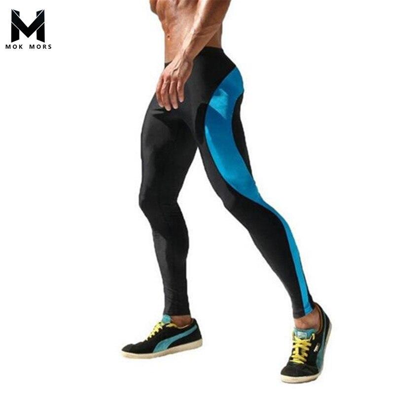 MOK MORS M 2017 Men Compression Track Pants High Stretch Mens Joggers Polyester Tights Men Pencil Pants Tracksuit Bottoms M-XXL