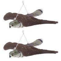 2 x чучело фигурка Сокол приманка птица садовый Отпугиватель животное Статуэтка наружное украшение Реалистичная птица
