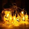Funciona Con Pilas 10 Led Calientan la lámpara Blanca Luz LED de Cadena Luces de Navidad Decoración de Halloween Calabaza