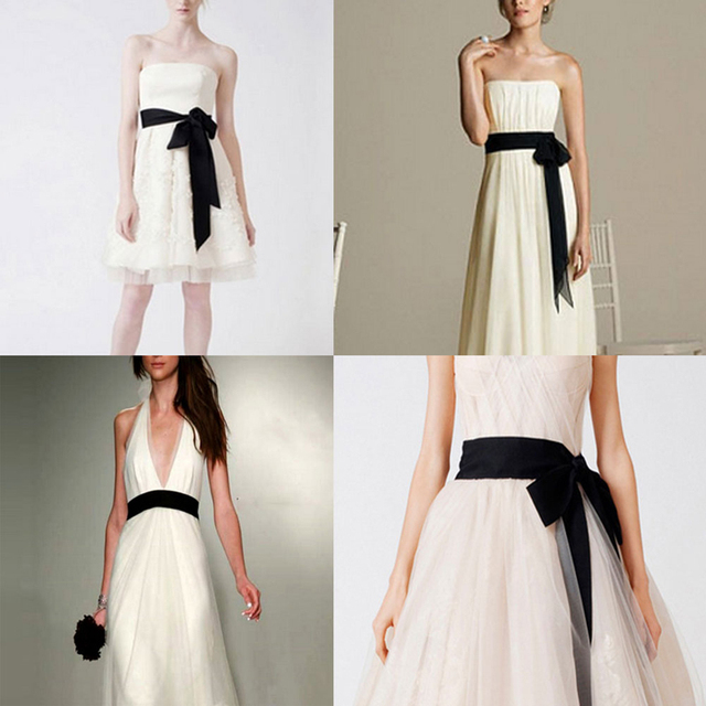b71a04864 Mujeres dulce lazo satén cinta cintura cinturón DIY seda faja cinturón  negro para vestido