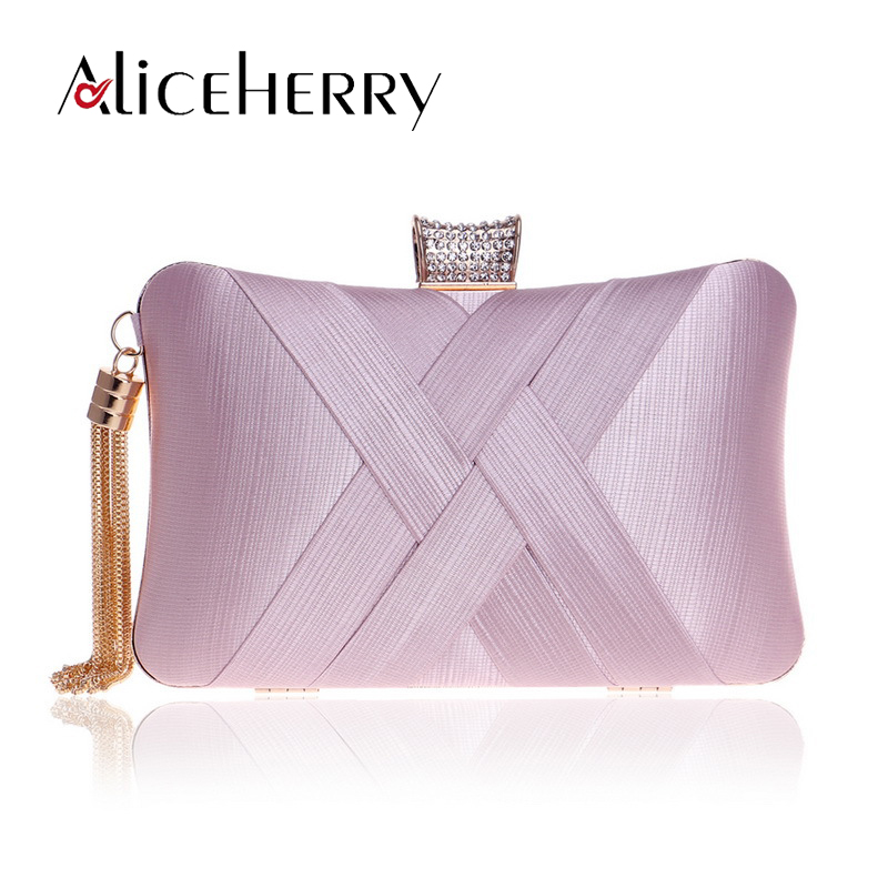 2ec6d16f1c0d Tassels Women Clutch Bag Female Silk Envelope Purse Purple Evening Bag  Designer Luxury Party Wedding Day Clutches Diamonds Bag-in Clutches from  Luggage ...