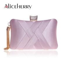 6755d44a5 Borlas mujeres embrague bolso femenino seda monedero bolso de noche púrpura  diseñador de lujo boda del