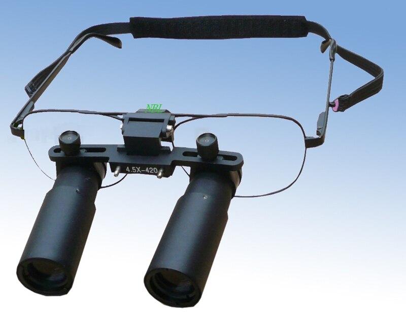 4.5X Professional Surgical Medical Dental Loupes HD Binocular Magnifier Loupe Wearing Style Glasses Microscope Customization