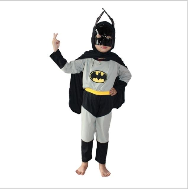 3-7Years Boy Grey Batman Costume Halloween Party Costume For Kids Cosplay Long Sleeve T & 3 7Years Boy Grey Batman Costume Halloween Party Costume For Kids ...
