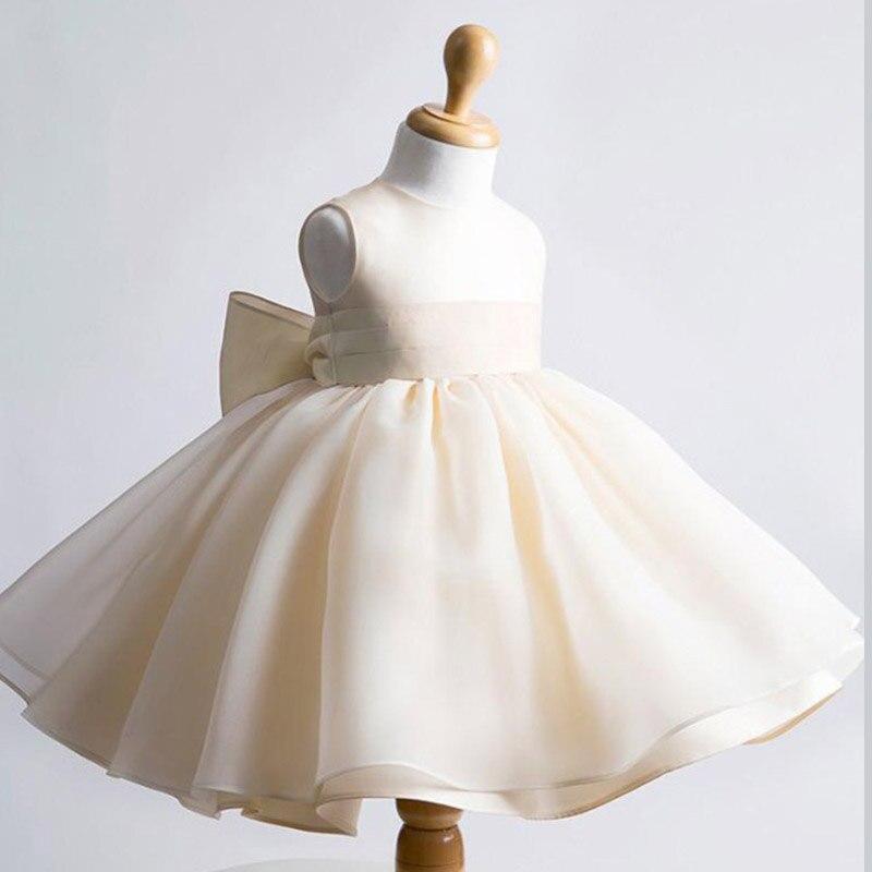 ФОТО New 2017 Fshion Flower Girl Dress Kids Clothing Party Wedding Birthday Girls Dresses Baby Girl White Pink Rose Dress
