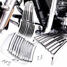Krom Regülatörü Kapağı ve Yağ Soğutucu Kapak Için Harley M8 Touring Electra Sokak Yol Glide Yol Kral FLH/T FLHR FLHX FLTR 2017 2019