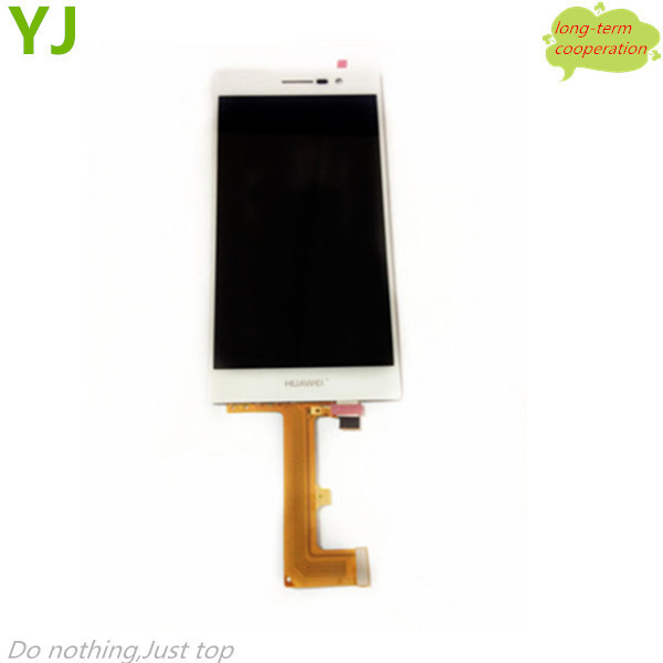 HK Free shipping AAA 100% Tested LCD Screen and Digitizer Assembly for Huawei Ascend P7 - White