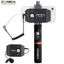 Беспроводная петличная микрофонная система Comica CVM WS50 6 каналов для смартфонов iPhone Samsung Huawei/DSLR камер