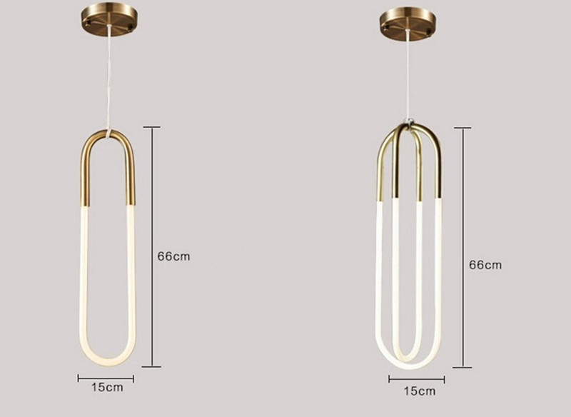 Loop Tube Pendant Light Modern Stylish Hanging Lamp Art Coffee Restaurant  Bar Table Clothes Shop Suspension Luminaire In Pendant Lights From Lights  ...