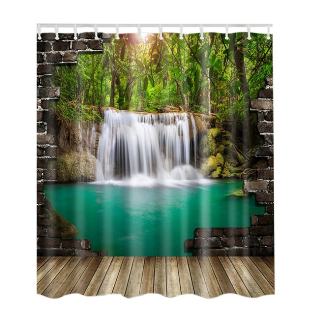 Fabric Shower Curtain Tree Themed Anmial Bathroom Decor By Fall Print Polyester Curtains