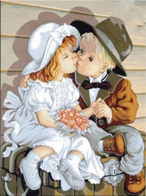Diy 5D Diamond Painting Boy and Girl  Embroidery Crafts Mosaic Home Decoration30cmx40cm L359