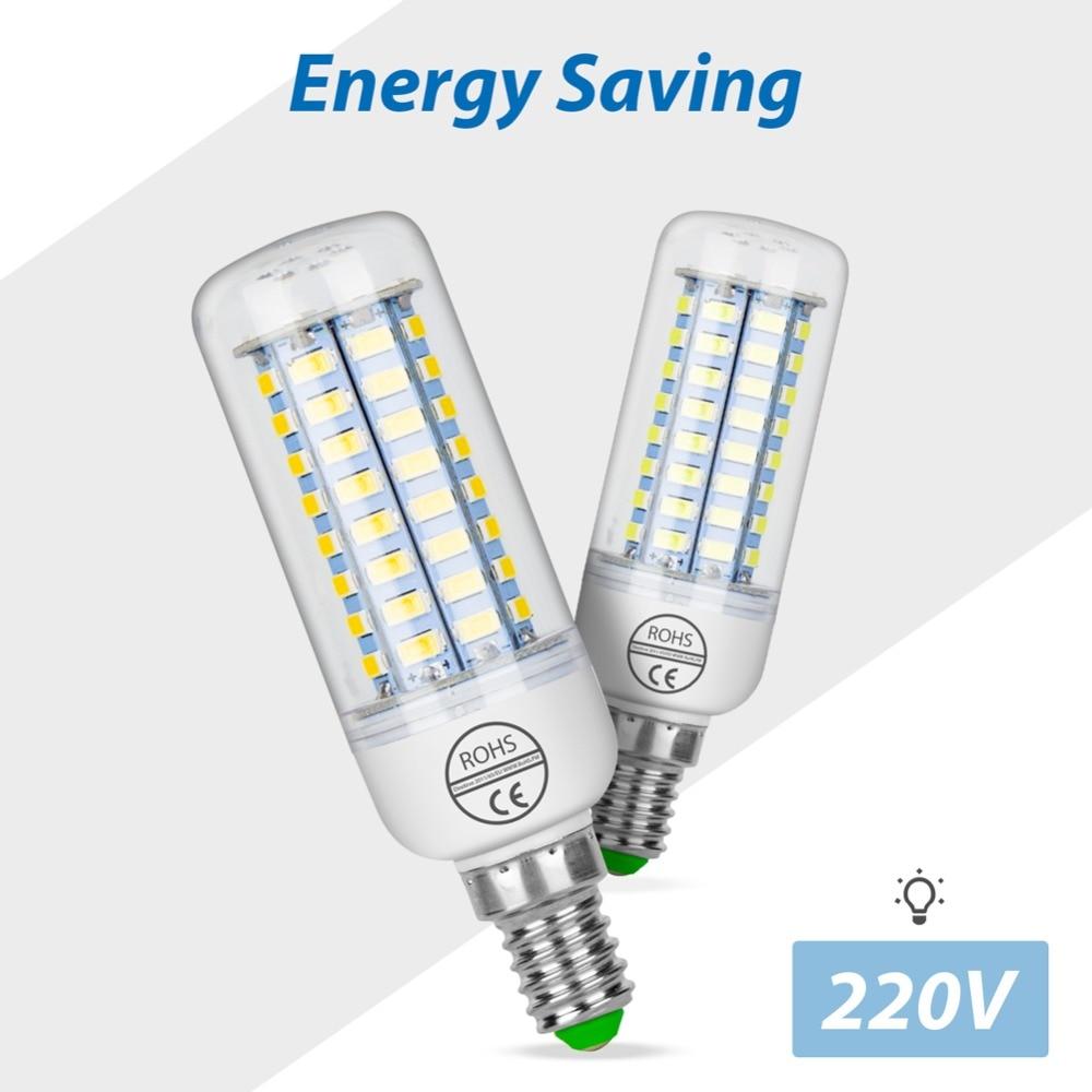 Led Lamp E27 220V bombillas led E14 Ampoule Led GU10 Energy saving Light SMD 5730 Corn Bulb 24 36 48 56 69 72leds Home Lighting in LED Bulbs Tubes from Lights Lighting