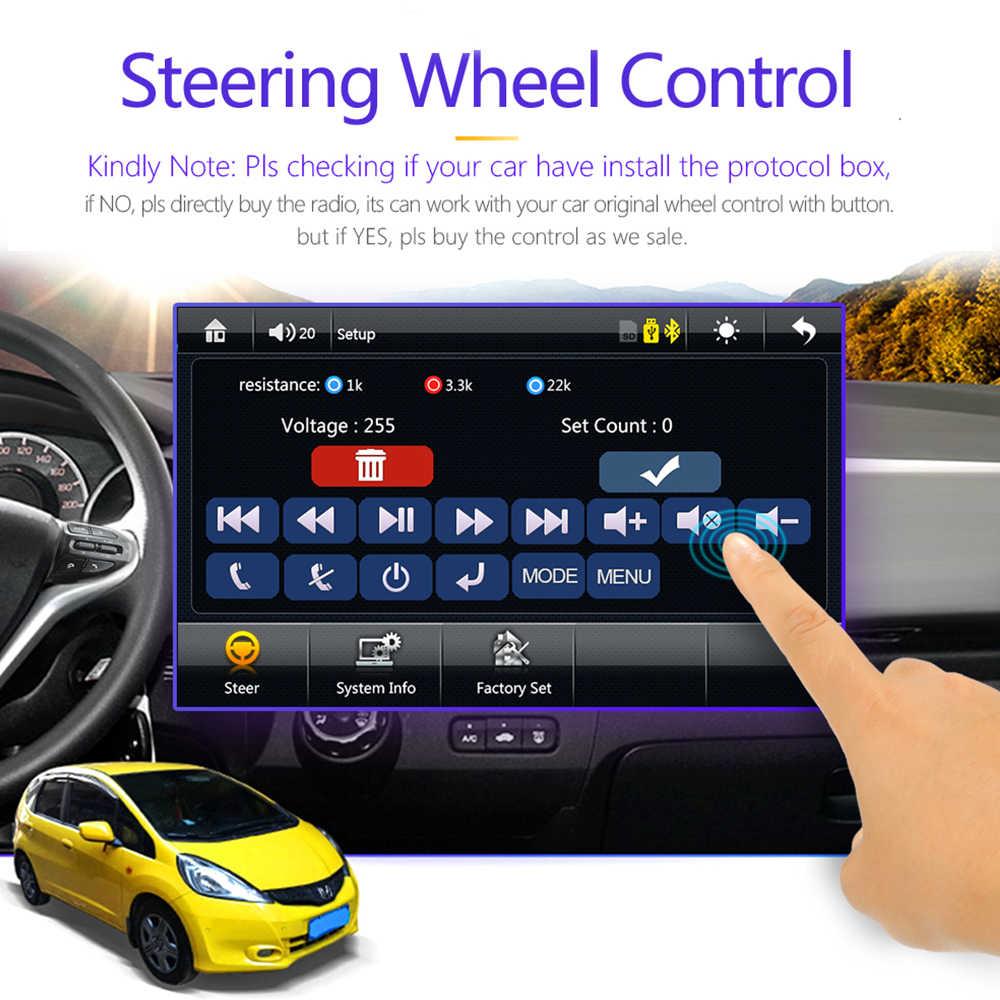"""2 الدين سيارة راديو بلوتوث 7 """"اللمس شاشة الفيديو MP5 لاعب مرآة وصلة USB TF ISO نظام ستيريو رئيس وحدة mirrorlink الروبوت 9"""