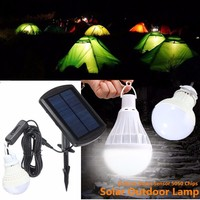 Portable Solar Panel Power 5 LED Solar Light Lamp Bulb Sensor LED Bulb Outdoor Garden Light