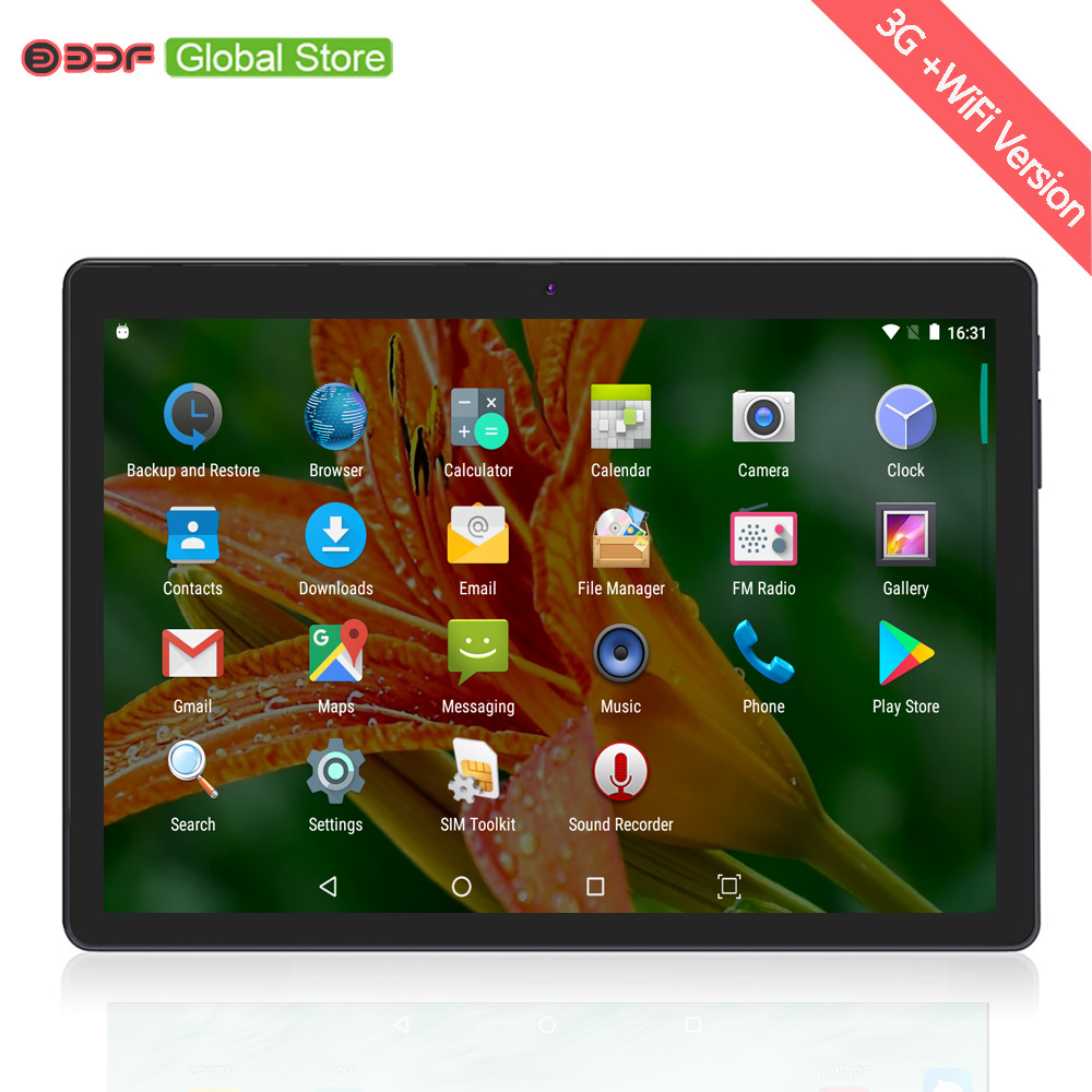 10 Inch Android 6.0 Tablet Pc Quad Core 1280 Ips Lcd 4GB RAM+32GB ROM Built In 3G Mobile Phone Sim Card Tablet 5Mp High Cameras