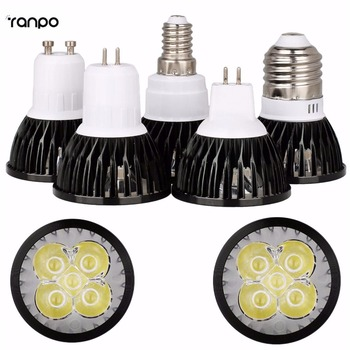 Black LED Spotlight E26 E27 E14 GU10 MR16 GU5.3 6W 8W 10W Lamp Bulb Lighting AC 85-265V image