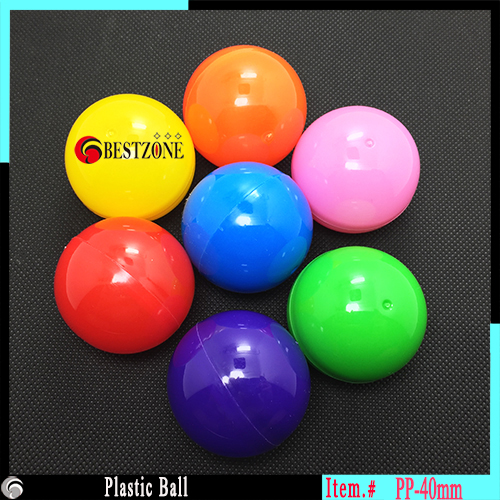 40mm Beauty Plastic Ball Mixed Color Soft Round Balls For Kids Toys Capsule Free Shipping