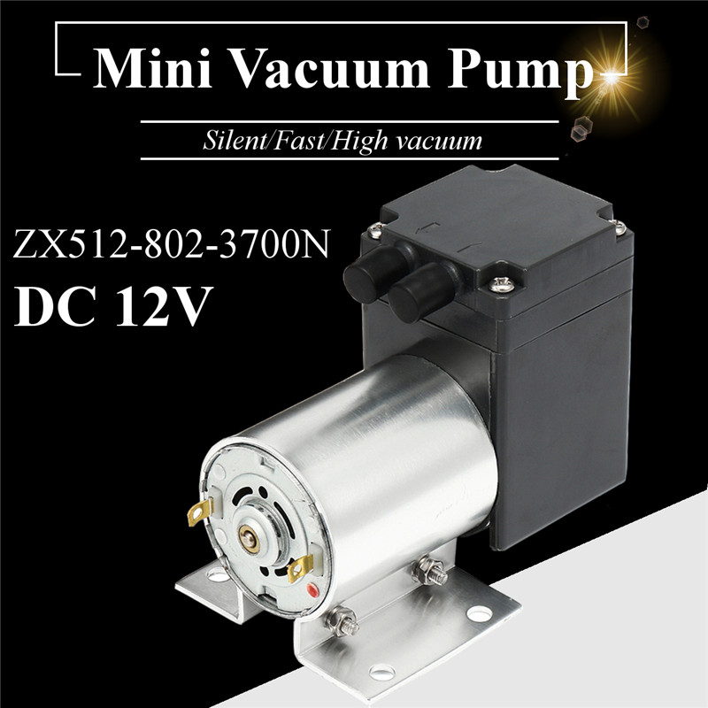 DC12V Mini Metal Vacuum Pump High Negative Pressure Suction Pump 12L/min 120kpa W/ Micro Diaphragm Pump With Holder 6x3.8x4.5cmDC12V Mini Metal Vacuum Pump High Negative Pressure Suction Pump 12L/min 120kpa W/ Micro Diaphragm Pump With Holder 6x3.8x4.5cm
