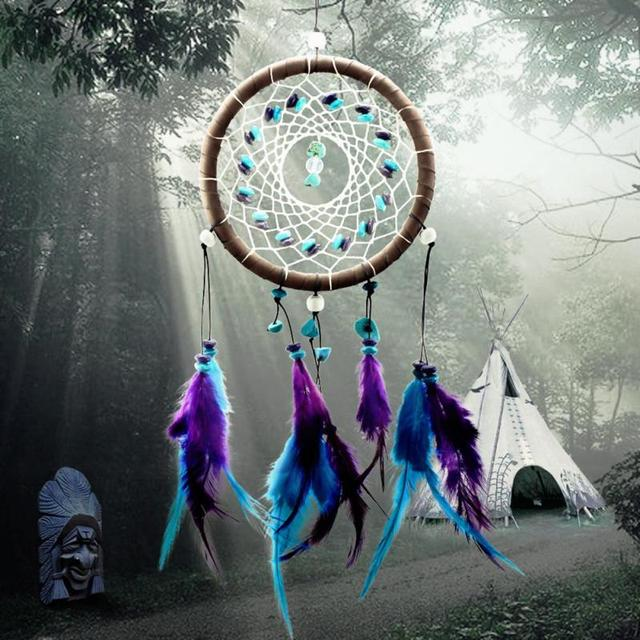 Nice Dream Catchers New Fashion Wind Chimes Indian Style Feather Pendant Dream Catcher 6