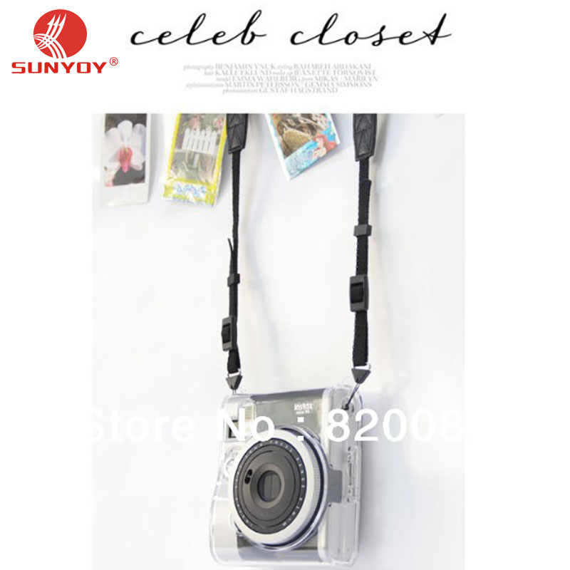 Crystal Case for Instax Mini 90 Instant Polaroid + Neck Strap For Fujifilm Camera, Free Shipping