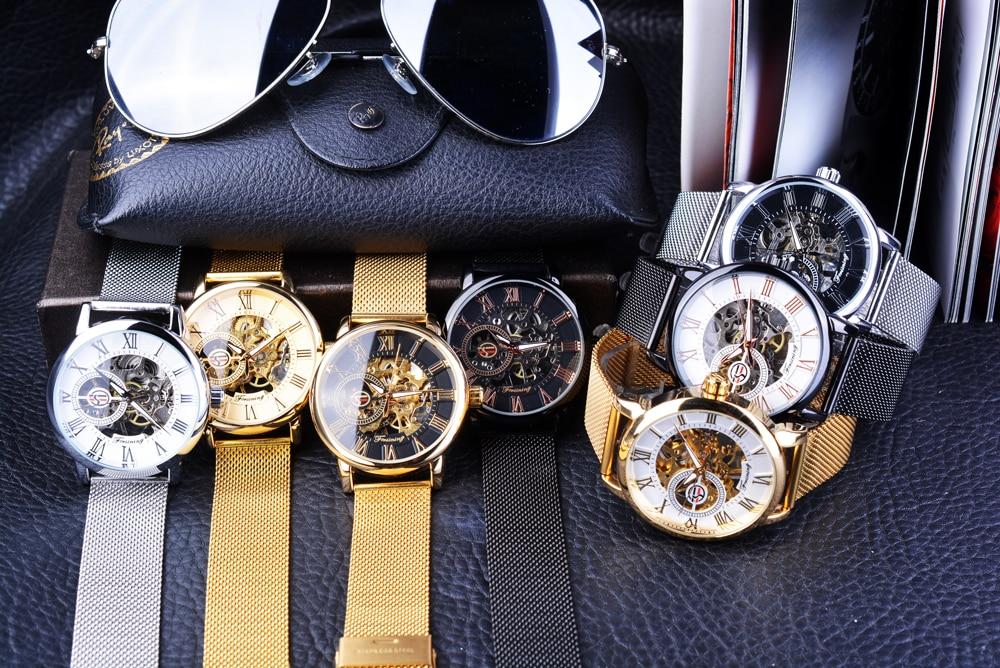 HTB18RRpaiLrK1Rjy1zdq6ynnpXaH Forsining Retro Fashion Design Skeleton Sport Mechanical Watch Luminous Hands Transparent Mesh Bracelet For Men Top Brand Luxury