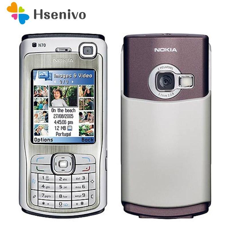 Original Unlocked Nokia N70 Phone 2..1'inch FM Radio Bluetooth Symbian OS With Arabic Keyboard Free Shipping