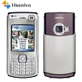 Original Unlocked Nokia N70 Phone 2..1'inch FM Radio Bluetooth Symbian OS With Arabic Keyboard Free shipping - discount item  10% OFF Mobile Phones