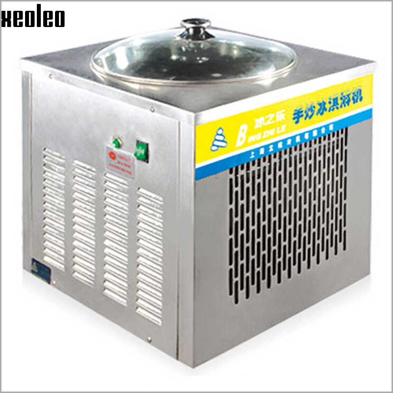 Xeoleo Commercial  Ice fried machine Double pan Ice cream Frying Machine Yogurt  fried machine Fried yogurt ice cream double pressure ice frying machine double pan fried ice cream machine