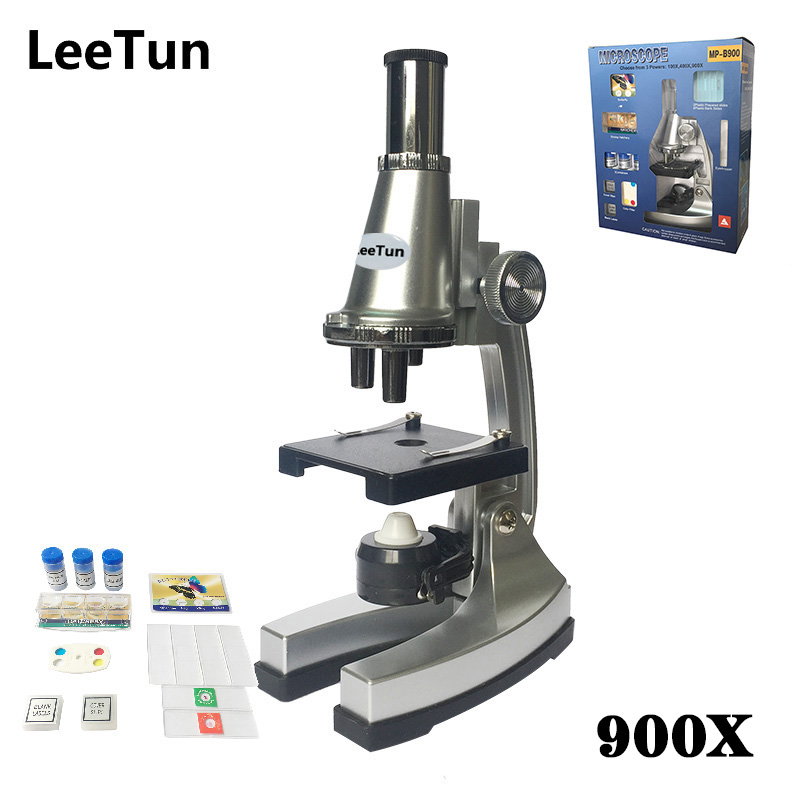 Educational Illuminated Microscope 100X 400X 900X Children Gift Microscope for Kids to Learn Science Christmas Birthday Gift цена