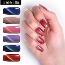 BELLE FILLE Cat Eye Gel Nail Polish UV 10ml 3D Bling LED Cat Eye Gel Polish Pink Varnish Gel For Nails Semi Permanent Polish