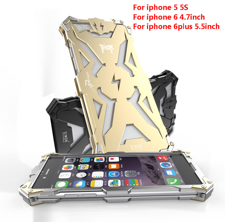 i6 Original Design metal Shell of Cool Metal Aluminum THOR IRONMAN protect phone cover shell case