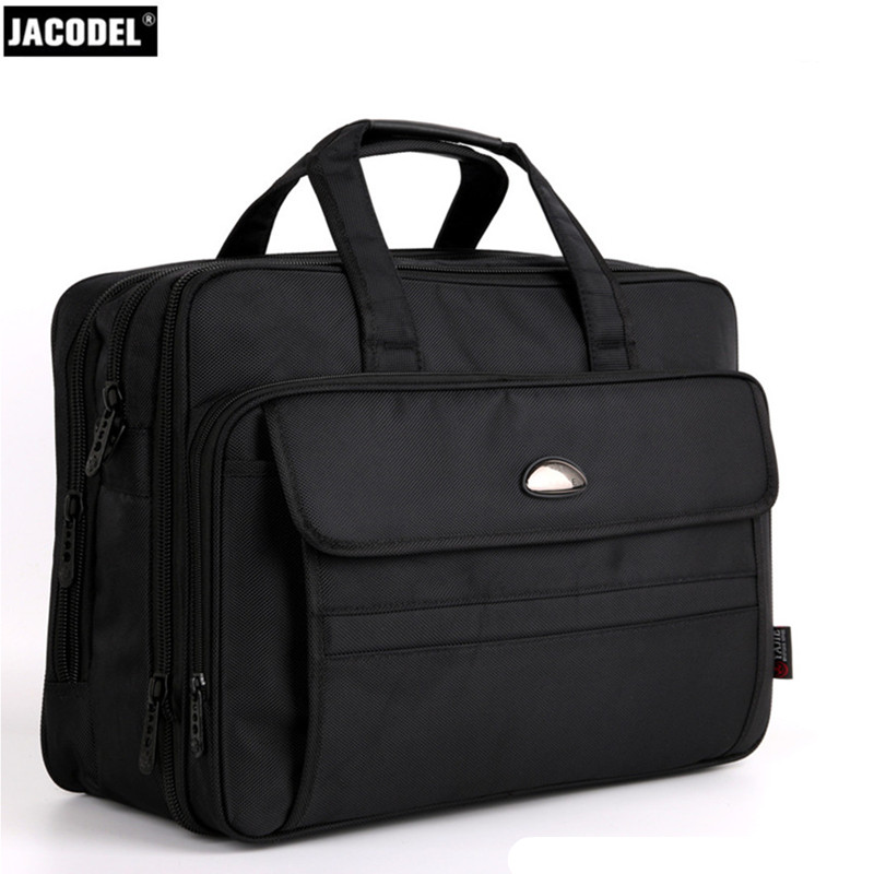 Jacodel Large Crossbody Bag Thickening Oxford Laptop Briefcase for Men Women 16 inch Laptop Shoulder Bag for Business Travel Bag kundui suitcase women men travel bag thickening aluminum alloy laptop large toolbox lockable storage display box briefcase