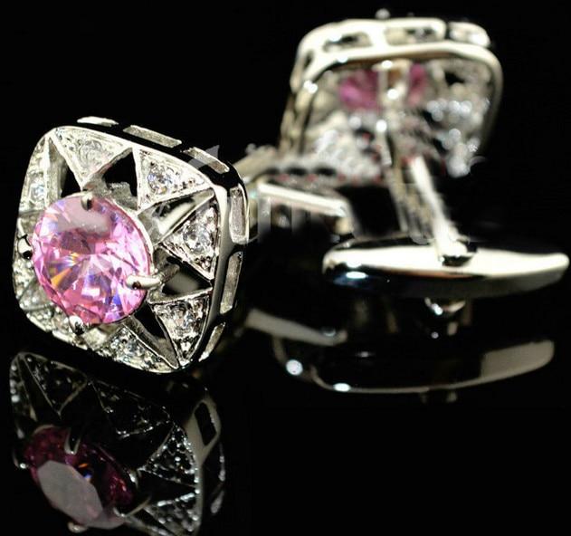 Pulsuz çatdırılma Crystal Cufflinks 6 rəng seçimi dəyirmi - Moda zərgərlik - Fotoqrafiya 4