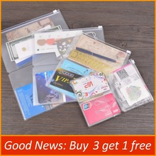 PVC Zipper Pocket File Folder Travel Journal Notebook Planner Accessories Card Holder Storage Pouch Bag A5