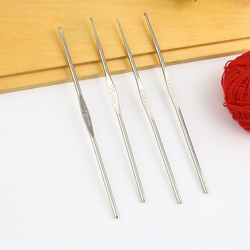 1x Aiguilles à tricoter de Single-Ended Maple peint à la main Boutons 35cmx5mm Outil UK