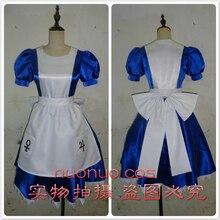 53cc43e3c Las aventuras de Alicia en el país de las Maravillas el arte de Alicia   madness devuelve Cosplay vestido azul maid vestido para .