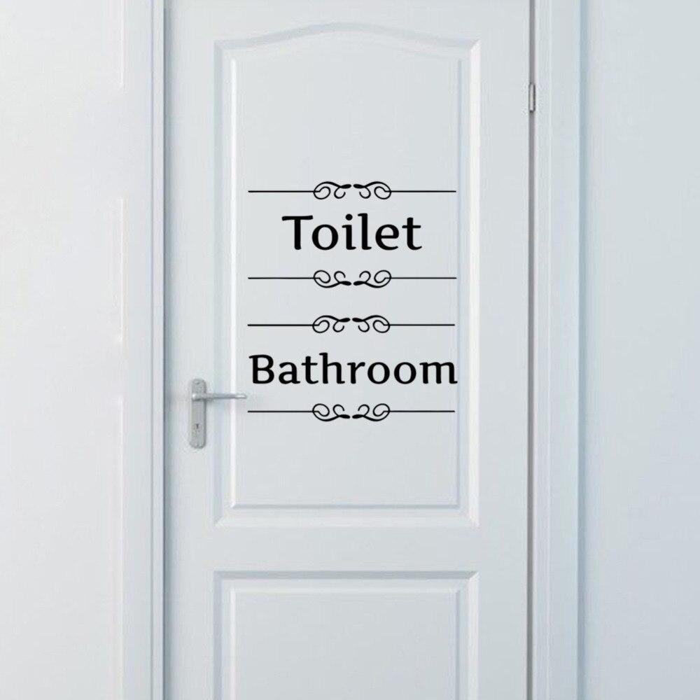 1 pz dellannata di trasporto libero autoadesivo della parete arredo bagno wc porta decalcomania
