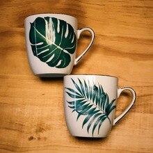 Plants Hand Painted Ceramic Mugs