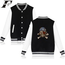 Funny Skeleton Cartoon Baseball Jacket Winter Warm Cotton Wadded Jacket Female Winter Jacket Women Outerwear Oversize