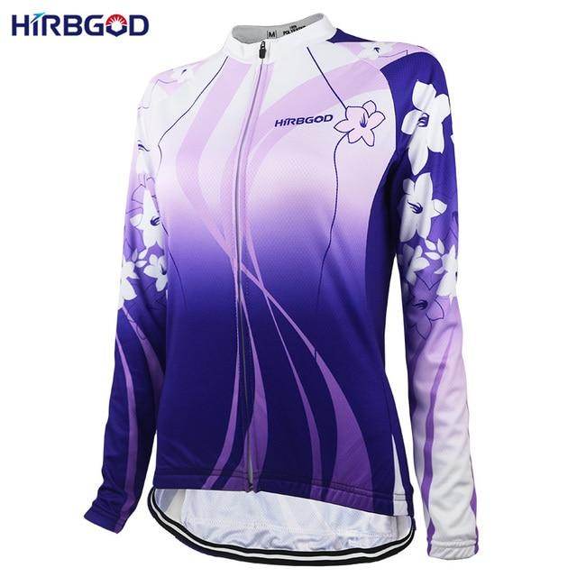 7deb4f14e HIRBGOD Stylish Lightweight Lady Cycling Jersey Women s Long Sleeve Flower  Sport Ride Bike Bicycle Shirt jersey Clothing-NR152