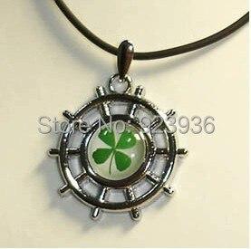St Patrick's four leaf clover pendant