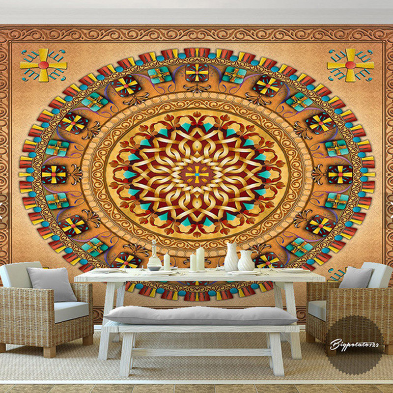 Customized South East Asia exotic style wallpaper bedroom theme room hotel backdrop wall wallpaper personalized custom murals islam in performance contemporary plays from south asia