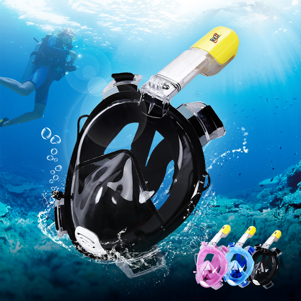 produs 2017 rkd diving mask full face scuba snorkel diving mask