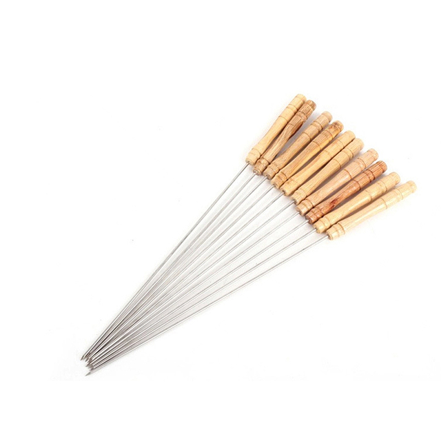12 pieces of stainless steel BBQ barbecue roasting needle