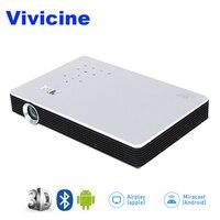 Vivicine M1 3D Full HD Проектор для домашнего кинотеатра, Ручной Смарт HDMI USB VGA с ПК видеоигры кино Proyector Miracast Airplay